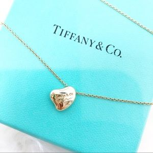 Tiffany & Co 18k Elsa Peretti full heart necklace
